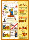 Безопасность работ на лесосеке комплект из 3 плакатов